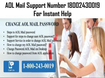 How To Change AOL Mail Password? 18002430019 Call Now