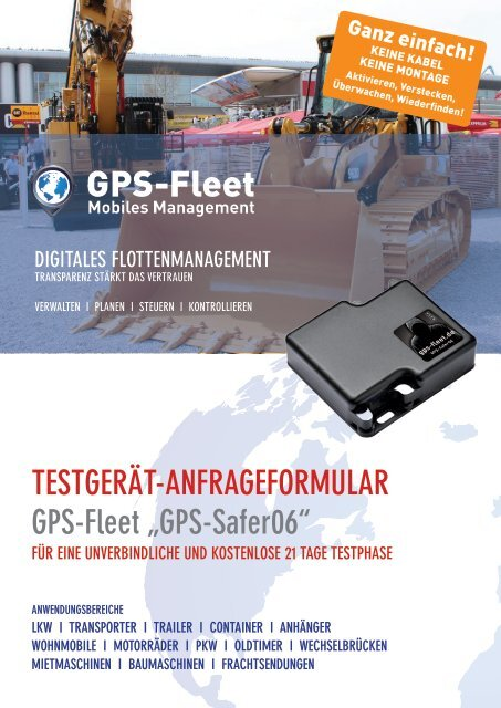 Testgerätantrag GPS-Safer06