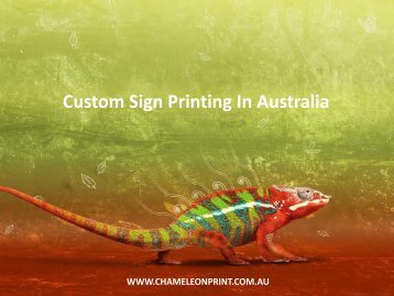 Custom Sign Printing In Australia