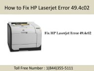 1(844)355-5111 How to Fix HP Laserjet Error 49.4c02