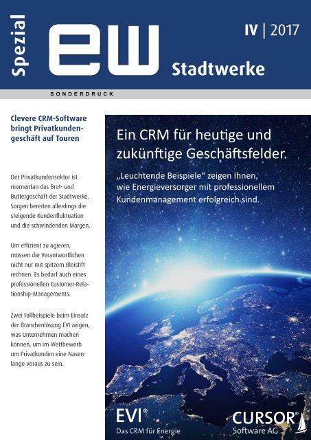 Privatkundenmanagement im CRM - ew Stadtwerke spezial IV-2017