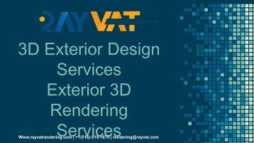 3D Exterior Design Services Exterior 3D Rendering Services