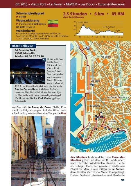 Marseille, Calanques, Côte Bleue (Auszug, Blick ins Buch)
