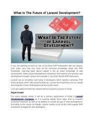 Open Source Framework Which Laravel Development