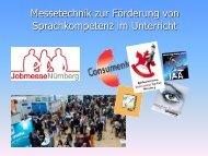 Messetechnik für Berufswahlmesse Lindau 2018