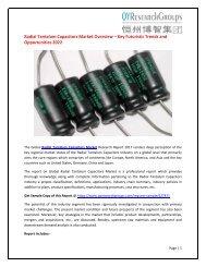 Global Radial Tantalum Capacitors Market Research Report 2017