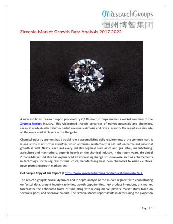 Global Zirconia Market Research Report 2017