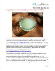 Global Organic Coconut Water Market Research Report 2017