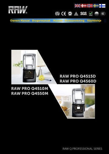 RAW PRO Q45XX manual