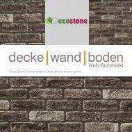 Mathios DecoStone Deco Bricks brown yellow