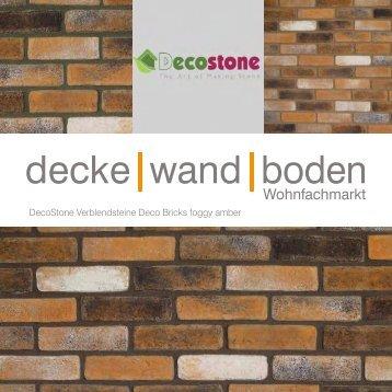 Mathios DecoStone Deco Bricks foggy amber