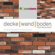 Mathios DecoStone Deco Bricks aged red