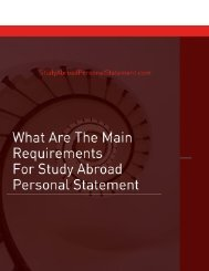 What Are the Main Requirements for Study Abroad Personal Statement