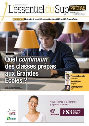 L'Essentiel Prépas n°12 - Décembre 2017