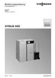 VITOLIG 300 Bedienungsanleitung - Viessmann