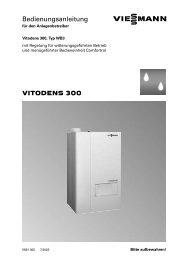 VITODENS 300 Bedienungsanleitung - Viessmann