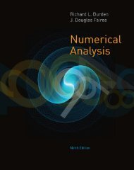 Numerical Analysis (9th Edition)