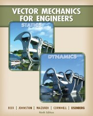 Vector Mechanics For Engineers Statics and Dynamics (9th edition)