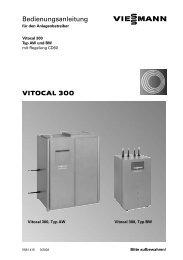 VITOCAL 300 Bedienungsanleitung - Viessmann