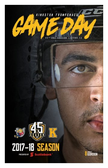 Kingston Frontenacs GameDay December 3, 2017