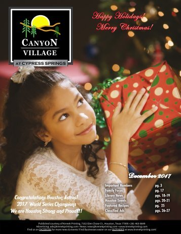 Canyon Village at Cypress Springs December 2017
