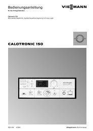 CALOTRONIC 150 Bedienungsanleitung - Viessmann