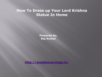 How to dressup your lord krishna statue