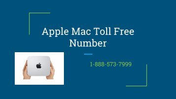 Apple Mac Toll Free Number 1-888-573-7999 | contact number