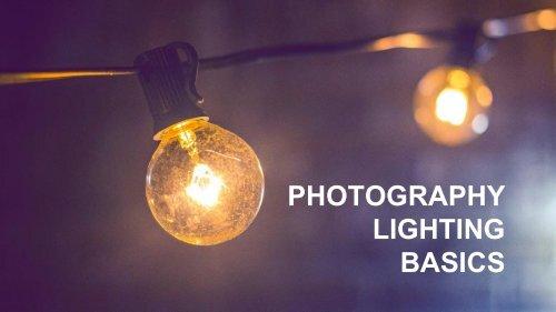 Photography lighting-basics