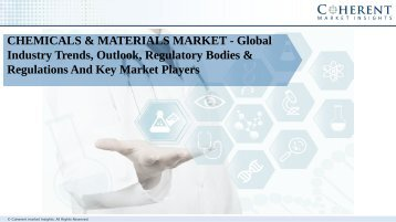 Chemicals & materials market is expected to growth over the forecast period 2016 – 2024