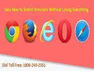 1800-240-2551 Easy Way to Switch Browsers Without Losing Everything