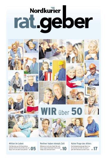 "Nordkurier Ratgeber ""Wir über 50"" Mecklenburgische Seenplatte"