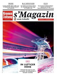 s'Magazin usm Ländle, 3. Dezember 2017