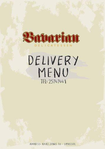 Bavarian Delicatessen delivery menu