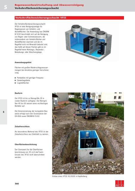 ACO Österreich Bauelemente Preisliste 2018 - 05 Regenwasserbewirtschaftung Abwasserreinigung