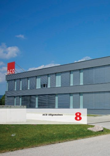 ACO Österreich Bauelemente Preisliste 2018 - 08 Allgemeines