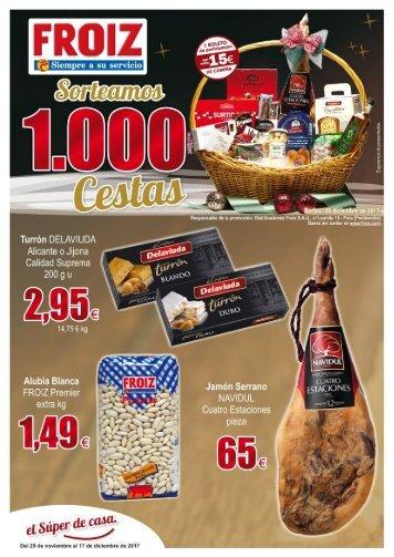 Supermercado FROIZ ofertas hasta 17 de diciembre 2017