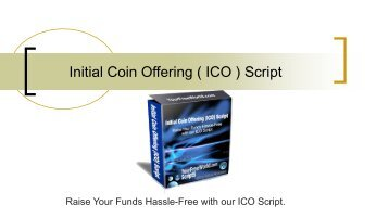 Best Initial Coin Offering Script ( ICO Script )