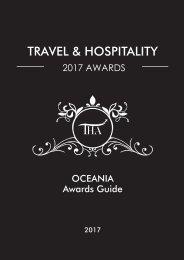 Travel & Hospitality Awards | Oceania 2017 | www.thawards.com