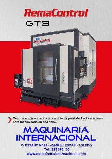 CENTRO DE MECANIZADO CON CAMBIO DE PALET REMA CONTROL GT3 - MAQUINARIA INTERNACIONAL