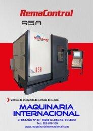 CENTRO DE MECANIZADO DE 5 EJES REMA CONTROL R5A - MAQUINARIA INTERNACIONAL
