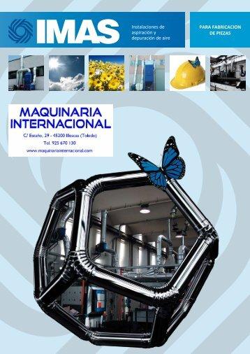 EXTRACION Y FILTRACIÓN DE ACEITE, TALADRINA, HUMOS Y POLVO EN EL SECTOR INDUSTRIAL IMAS - MAQUINARIA INTERNACIONAL