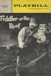"""Fiddler on the Roof"" New York 1966"