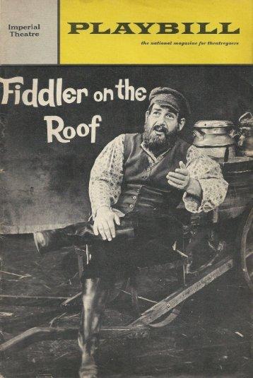 """Fiddler on the Roof"" New York 1966"