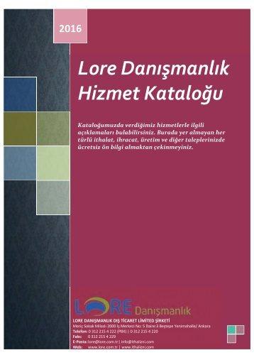 [Lore Hizmet Katalogu 2017] (1)
