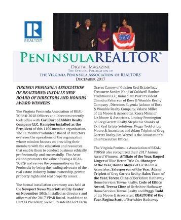 Peninsula REALTOR® December 2017