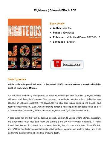 Righteous IQ Novel