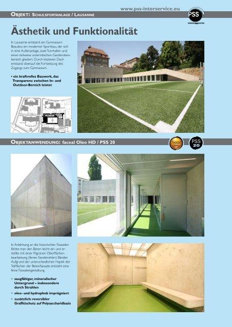 Objekt: Schulsportanlage / Lausanne