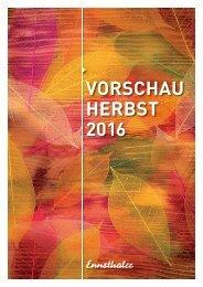 Herbstvorschau 2016 Ennsthaler