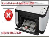 Fix Canon Printer Error U150 by dialing 18002138289